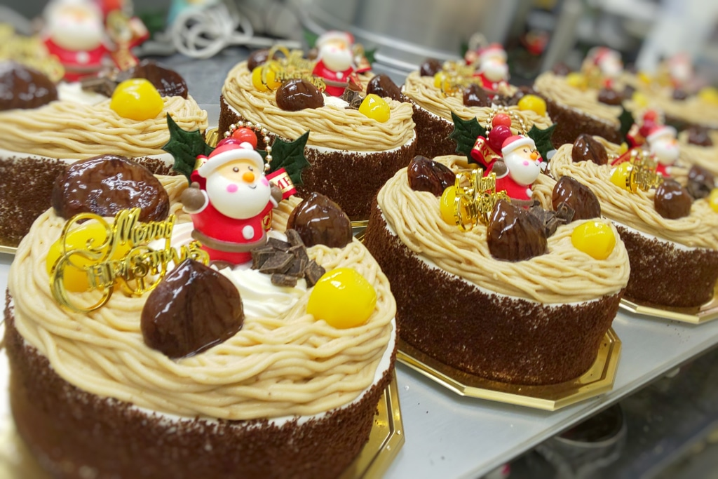 栗スマスケーキ 作りながら独り言 あまりにも美味しそう...