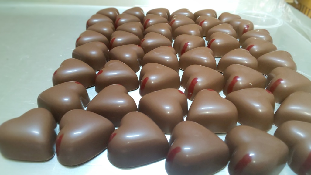 新一年生はキラキラしてますね  チョコレートもキラキラ...