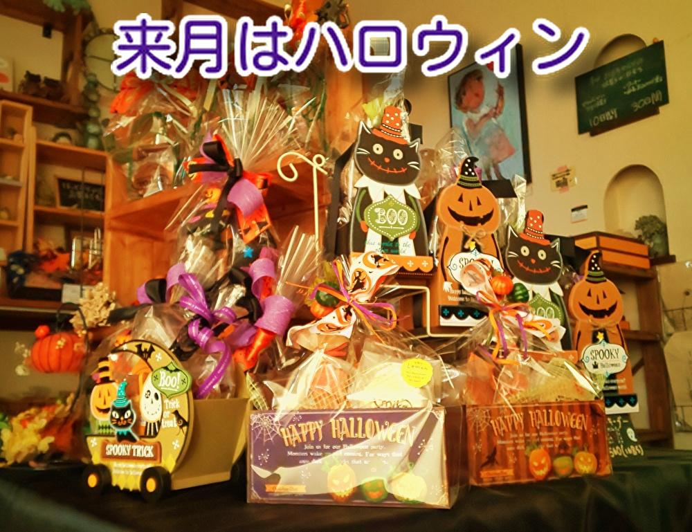 9月もあと数日10月は【ハロウィン】がありますね。色使いが大好きです...