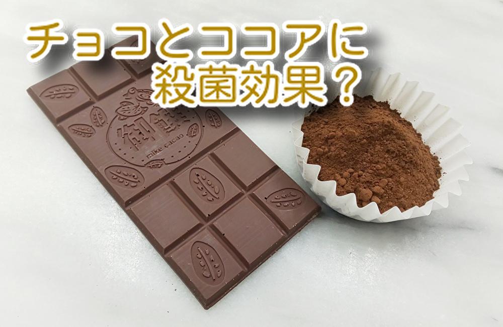チョコとココアには【殺菌効果】があるの?ストレスにはチョコがお勧め...